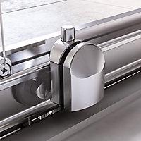 Aqualux Edge 6 Rectangular Clear glass Shower Shower enclosure with Sliding door (W)1200mm (D)900mm