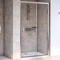 Aqualux Edge 6 Rectangular Clear glass Shower Shower enclosure with Sliding door (W)760mm (D)1200mm