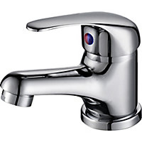 Arborg 1 lever Chrome effect Contemporary Basin Mixer Tap