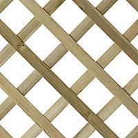Arched Trellis panel (W)0.9m (H)1.8m