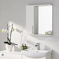 Ardenno Gloss White Mirrored Cabinet (W)550mm (H)630mm