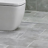 Arlington Grey Matt Stone effect Porcelain Floor tile, Pack of 6, (L)300mm (W)600mm