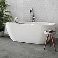 Arlington Grey Matt Stone effect Porcelain Floor tile, Pack of 6, (L)300mm (W)600mm