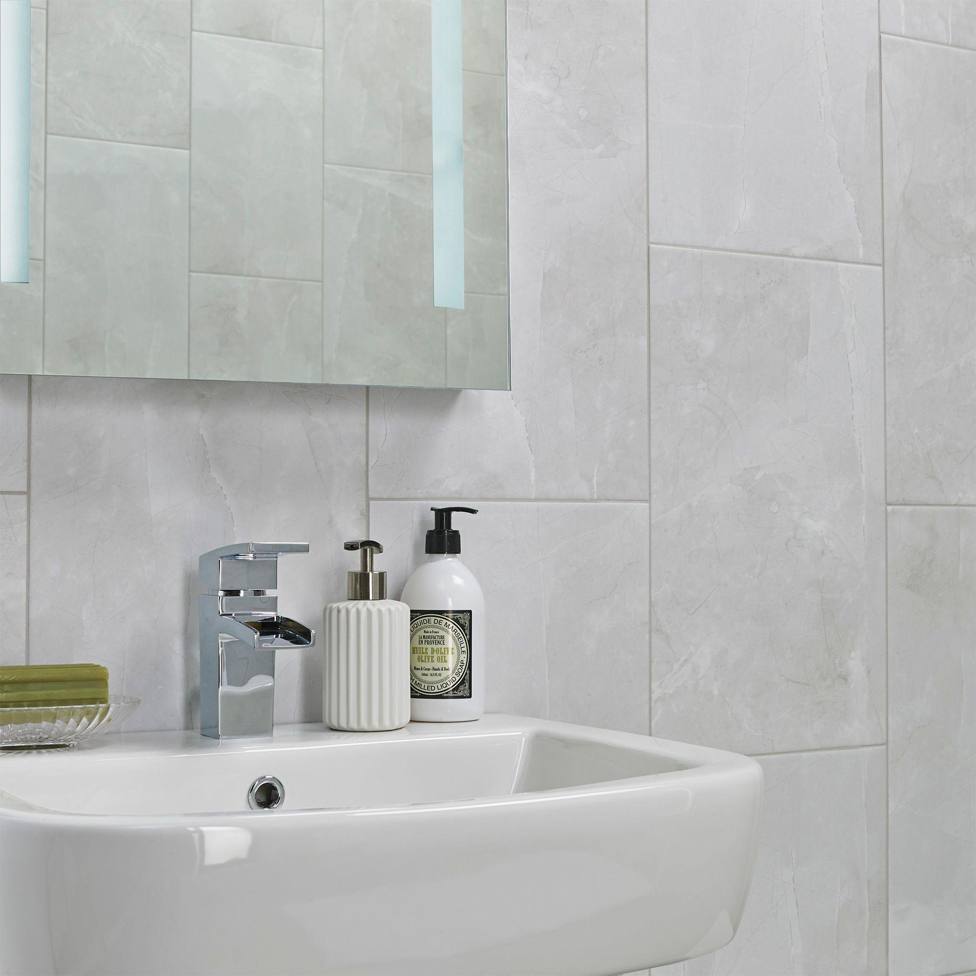 Arlington Light Grey Matt Stone Effect Porcelain Floor Tile, Pack Of 6,  (L)300mm (W)600mm DIY At B&Q
