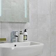 Arlington Light Grey Matt Stone effect Porcelain Floor tile, Pack of 6, (L)300mm (W)600mm