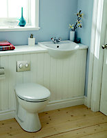 Armitage Shanks Sandringham Contemporary Back to wall Boxed rim Toilet set with Soft close seat