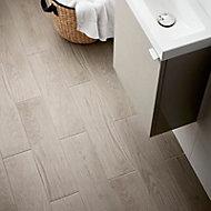 Arrezo Grey Matt Wood effect Porcelain Floor Tile Sample