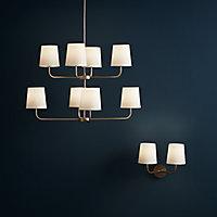 Arrioph Cream white Gold effect Double Wall light