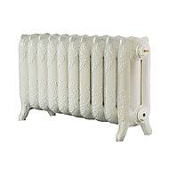 Arroll Montmartre 3 Column Radiator, Cream (W)834mm (H)470mm