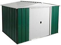 Arrow Greenvale 10x8 Apex Metal Shed - Assembly service included