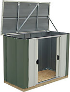Arrow Greenvale 4x2 Pent Olive Metal Shed with floor