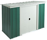 Arrow Greenvale 6x4 Pent Green & white Metal Shed