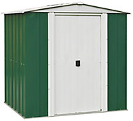 Arrow Greenvale 6x5 Apex Green & white Metal Shed with floor