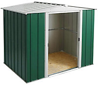 Arrow Greenvale 8x6 Apex Green & white Metal Shed with floor