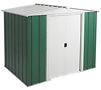 Arrow Greenvale 8x6 Apex Green & white Metal Shed