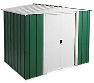 Arrow Greenvale 8x6 Apex Metal Shed - Assembly service included