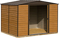 Arrow Woodvale 10x6 Apex Coffee Metal Shed with floor