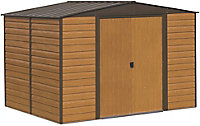 Arrow Woodvale 10x6 Apex Coffee Metal Shed