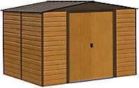 Arrow Woodvale 10x6 Apex Metal Shed - Assembly service included