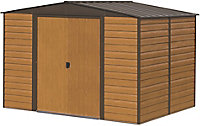 Arrow Woodvale 12x10 Apex Coffee Metal Shed with floor