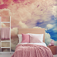 Art for the Home Multicolour Ombre cloud Matt Mural