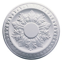 Artex Richmond Traditional Plaster Ceiling rose, (Dia)360mm