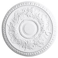 Artex Richmond Traditional Plaster Ceiling rose, (Dia)530mm