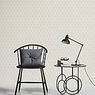 As Creation Bjorn Beige, grey & orange Geometric Textured Wallpaper