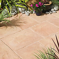 Ashbourne York gold Paving set 9.72m², Pack of 48