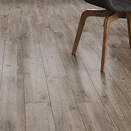 Ashdown Beige Matt Wood effect Porcelain Wall & floor Tile, Pack of 8, (L)900mm (W)150mm