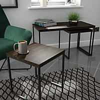 Atico Dark stained wood effect Coffee table & side table