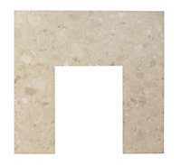 Aurora Botticino White Marble Back panel (H)940mm (W)940mm