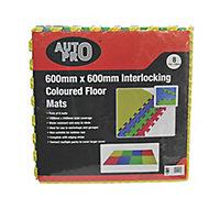 Auto Pro Multicolour Foam Workshop mat (L)2400mm (W)1200mm, Pack of 8