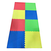 Auto Pro Multicolour Interlocking floor tile 3.6m², Pack of 8