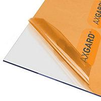 AXGARD Clear Polycarbonate Flat Glazing sheet, (L)2.5m (W)0.62m (T)3mm