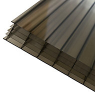 Axiome Bronze effect Polycarbonate Multiwall Roofing sheet (L)2.5m (W)690mm (T)25mm