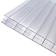 Axiome Clear Polycarbonate Multiwall Roofing sheet (L)2.5m (W)1000mm (T)16mm