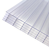 Axiome Clear Polycarbonate Multiwall Roofing sheet (L)2m (W)1000mm (T)25mm
