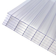 Axiome Clear Polycarbonate Multiwall Roofing sheet (L)2m (W)1000mm (T)32mm