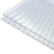 Axiome Clear Polycarbonate Twinwall Roofing sheet (L)2m (W)1000mm (T)10mm