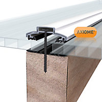 Axiome Clear Polycarbonate Twinwall Roofing sheet (L)3m (W)690mm (T)10mm