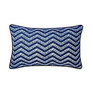 Azur Herringbone Blue & white Cushion