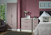 Azzurro Matt pink & white 4 Drawer Deep Chest (H)1075mm (W)765mm (D)415mm