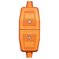 B&Q 10A Orange Indoor Switched 2 pin plug & socket