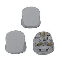 B&Q 13A White Plug, Pack of 3