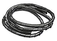 B&Q Black 10mm Cable wrap, (L)1.5m