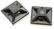 B&Q Black Cable tie mount, Pack of 20