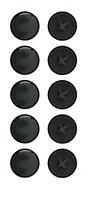 B&Q Black Screw cap (Dia)4mm, Pack of 20