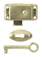 B&Q Brass-plated Steel Cabinet catch