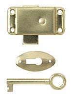 B&Q Brass-plated Steel Cabinet catch